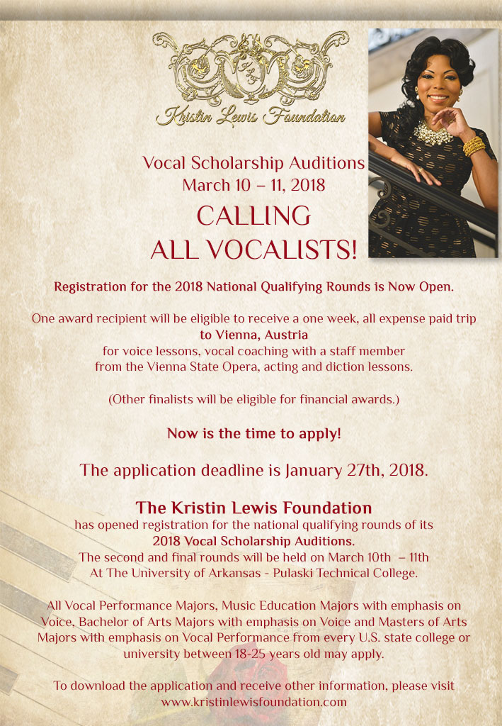 2018 Vocal Scholarship