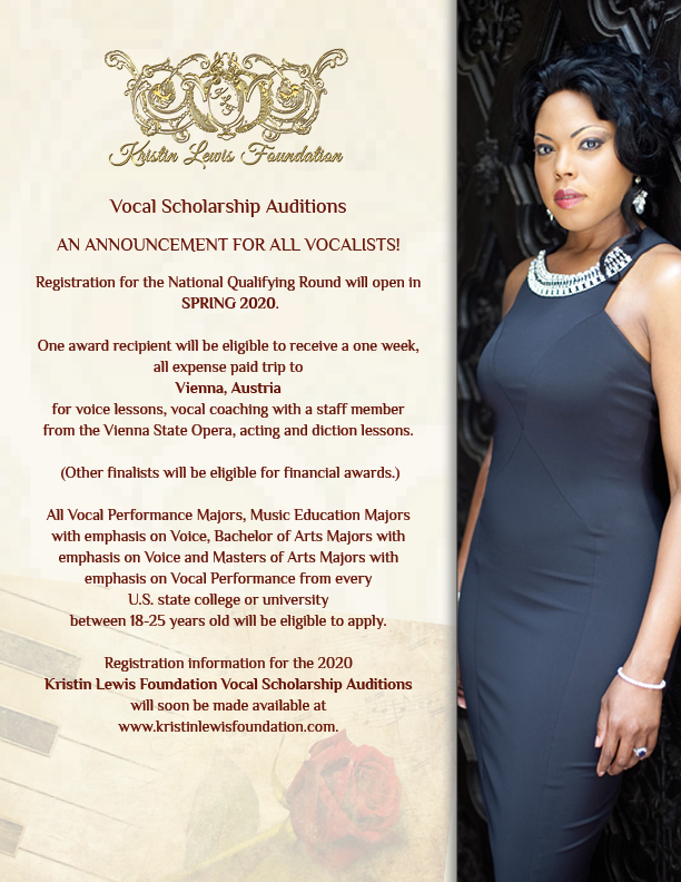 Vocal scholarship announcement for 2020